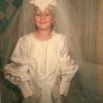 Dressing up in Mom's wedding dress