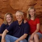 Michelle, Dad, Laura – July 2008