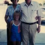 Michelle with Grandma and Grandpa Pearson