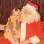 Michelle with Santa